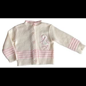 Vintage Baby Duck/chick Knit Sweater